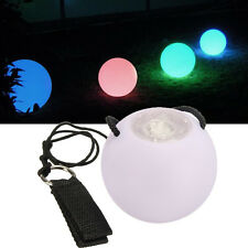 LED Multi-Coloured Glow POI Thrown Balls Light up For Belly Dance Hand Props WHL
