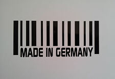 2 x Made in GERMANY Barcode vinyl stickers / Decals for Cars or Bikes 12 colours