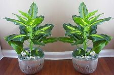 "2 x 18"" Tall Palm Bush Artificial Grass Bushes (24 Leaves each)"