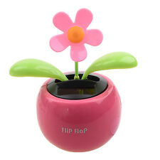 Solar Powered Dancing Sunflower Flip Flap Toy Flower Bug Bobble Plant Pot Swing