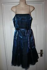 Ladies Blue Debut Dress Size 12 Shimmer Prom Bridesmaid Christmas Party