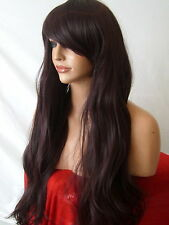 Black Plum Wig Women Natural Fashion Party Wavy Full Ladies Hair Wig cosplay E19