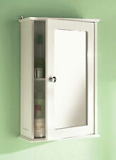 SINGLE MIRROR DOOR BATHROOM CABINET INDOOR WALL MOUNTABLE WOODEN BATHROOM SHELF