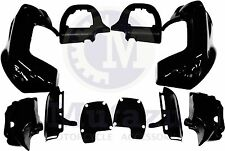 Black Lower Vented Fairing Kit for Harley Road Glide FLTR