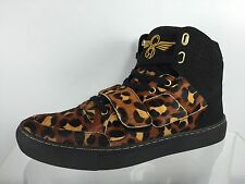 Creative Recreation Mens Black/Cheetah Leather Shoes 9