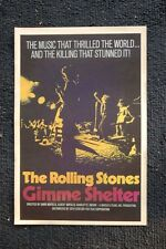 The Rolling Stones Poster Gimmee Shelter