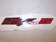 SUZUKI SV650 UPPER FRONT COWL FAIRING SIDE EMBLEM DECAL SV 650 68281-17G00-CTD