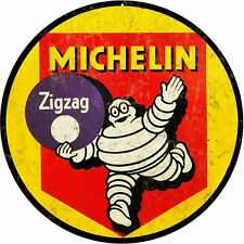 """Michelin Tire weathered round metal sign (rv 14""""14"""")"""