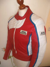 vintage JUMBO FUTURA Motorrad Lederjacke oldschool motorcycle leather jacket 50