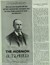 """Mormon Wizard """"Uncle Jesse"""" Knight +Leatham, Mansfield, Roundy, Thompson"""