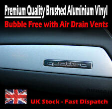 1520mm x 300mm Air Drain Silver Brushed Aluminium Vinyl Film - Car Wrap Sticker