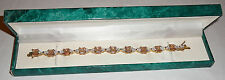 Suzanne Somers CZ bracelet with original box. Sterling silver gold plated