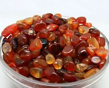 100g Natural Red Agate Quartz Raw Ore Crushed Gravel Crystal Stone Degaussing