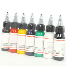 Pro 7 Color 30ml Tattoo Ink Pigment Complete Set Supply 1oz for Tattoo Kit