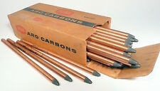 "CARBON ARC RODS for 35mm FILM PROJECTION  1 BOX of 3/8"" x 9"" NATIONAL NEGATIVES"