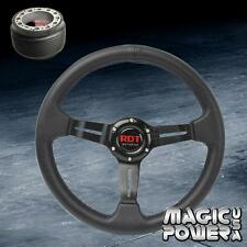 "330mm Black 2"" Deep Dish Steering Wheel & Hub Adapter For Acura TL 1997-2014"