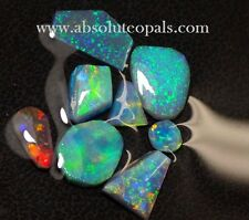 LIGHTNING RIDGE Black SOLID OPAL ROUGH  Rubs PARCEL 9.2 ct
