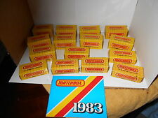 MIB 1983 MATCHBOX COLLECTIBLES CARS,TRUCKS AND BIKE LOT OF 15 WITH BOXES /BOOKLE
