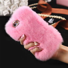 Stylish Faux Rabbit Fur Phone Cover Muiltcolor Skin Case For iPhone5 5S 6/6 Plus