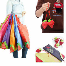 Random color Bag Eco Handbag Strawberry Foldable Shopping Tote Bags Reusable