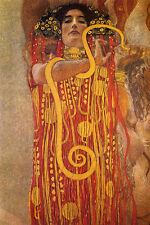"""Gustav Klimt """"Hygeia"""" Reproduction of painting  8X12 canvas print poster"""