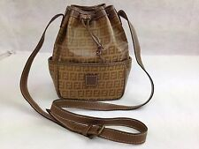 Auth Fendi Zucca Coated Canvas Beige Shoulder Bag Vintage 5G141091#