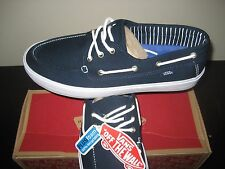 Vans Mens Chauffeur SF Canvas Dress Blues & White Casual Boat Shoes size 11 NWT