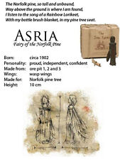 The Iron Fairies ASRIA (BOXED) Fairy of The Norfolk Pine + 2xFREE FINGER PUPPETS