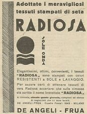 W6629 Tessuti stampati di seta RADIOSA - Pubblicità 1930 - Advertising