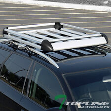 """UNIVERSAL 50"""" SILVER ROOF RACK BASKET TRAVEL LUGGAGE HOLDER TRAY+INSTRUCTION T14"""