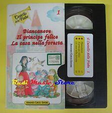 VHS BIANCANEVE IL PRINCIPE FELICE LA CASA NELLA FORESTA 1 curcio (F44) no dvd