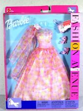NIB BARBIE DOLL 2002 FASHION AVENUE PINK GOWN