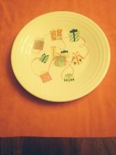 """2016 Fiesta Christmas Gifts 9"""" Luncheon Plate Belk Store Excl. New w/ Sticker"""