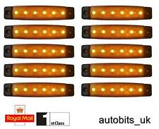 10 x 12V 12 VOLT SMD 6 LED AMBER SIDE MARKER LIGHT POSITION TRUCK TRAILER LORRY