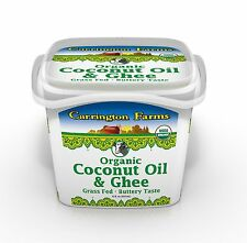 1 Tub Carrington Farms Organic Coconut Oil & Ghee 12oz EXPEDITED SHIP