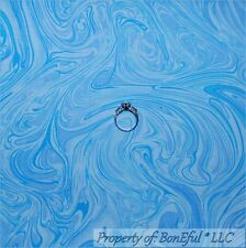 BonEful Fabric FQ Cotton Quilt Light Blue Water Wave Magic Harry Potter US Swirl