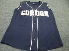 VINTAGE RUSSELL GAME WORN NCAA GORDON COLLEGE AUTHENTIC SOFTBALL JERSEY SIZE L