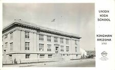 c1940 Real Photo Postcard; Union High School, Kingman AZ Frashers X760 Mohave Co