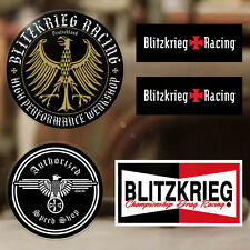 5x pieces Blitzkrieg Racing sticker decal german Volks Rod Hot autocollante set1