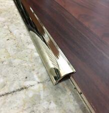 Profilo Ottone lucido terminale per parquet pavimento laminato flottante mt 0,90