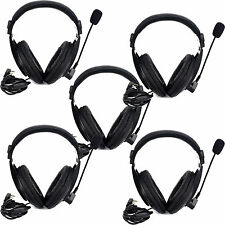 5Pcs Retevis 2Pin VOX Headset Earpiece For RETEVIS/BAOFENG/KENWOOD/TYT/WOUXUN US