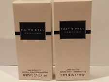Lot Of 2 Faith Hill EDT Perfume Spray For Women - 0.375 oz each