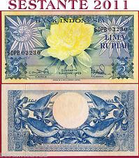 INDONESIA - 5 RUPIAH 1959   --   RADAR 03230   --  P 65 - FDS / UNC