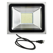 100W Cool White 110V SMD LED Floodlight Outdoor Yard Garden Fence Landscape Lamp