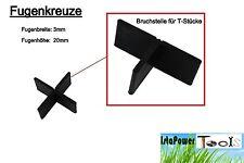 50x Fugenkreuze 3mm für Terrassenplatten Bodenplatten Fliesenkreuze 3 mm