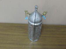 """Vintage Silver Tone Metal Sefer Torah Scroll Holder Case Israel Jewish Hebrew 8"""""""