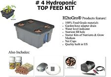 """H2OtoGro"" # 4 17"" x 13"" TOP FEED Hydroponic Bubbler, 4 site - FREE SHIPPING!"