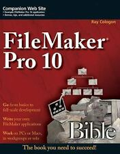 Bible Ser.: FileMaker Pro 10 Bible 562 by Ray Cologon (2009, Paperback)