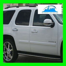 2007-2013 CHEVY AVALANCHE CHROME RUNNING BOARD MOLDING TRIM 2 PIECES