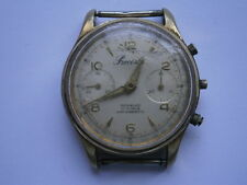 Vintage gents CHRONOGRAPH PRECISTO mechanical watch spares repair LANDERON 248